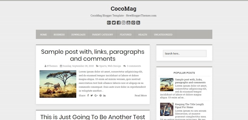 CocoMag Free Blogger Template