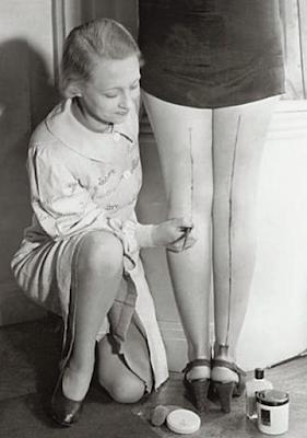 Meia calça desenhada, anos 40