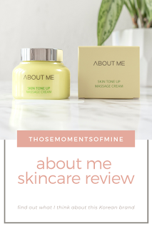 about me skincare review pinterest pin