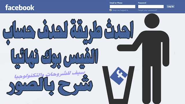 احدث طريقة لحذف حساب الفيسبوك Facebook نهائيا