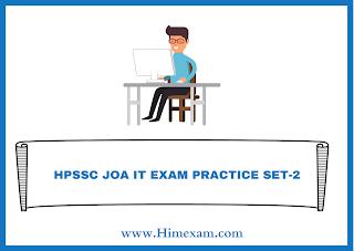 HPSSC JOA IT EXAM PRACTICE SET-2