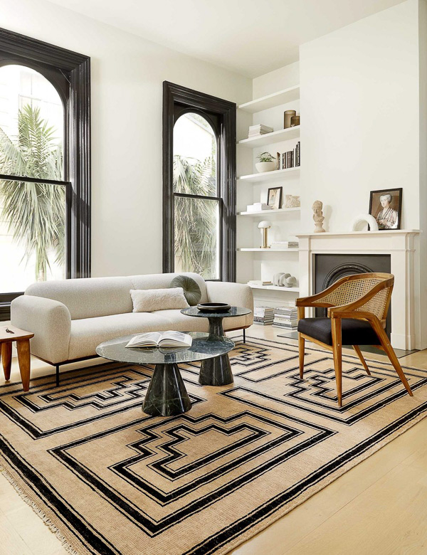 Art deco inspired living room design