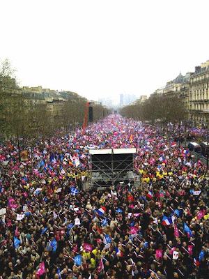 24-03-2013: a manifestação vista desde a dianteira