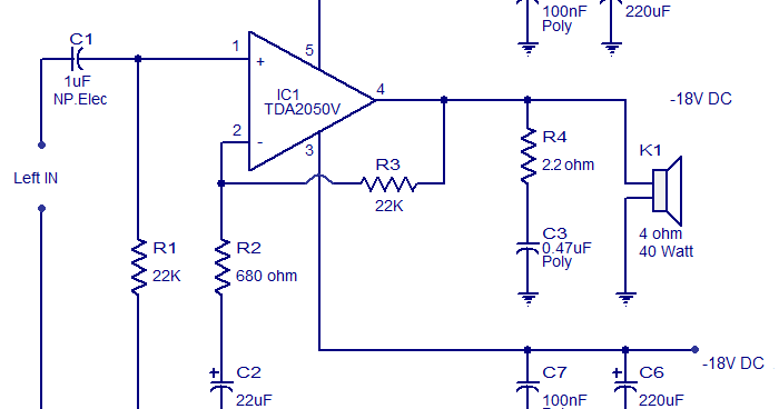 Skema Power Amplifier Dengan Ic Tda2050 32 Watt Masputz Com