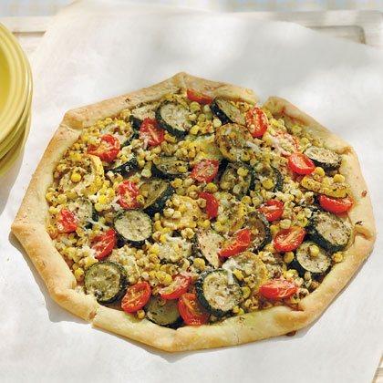 Summer Veggie & Pesto Tart