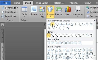 Cara Membuat Garis Tebal di Bawah Kop Surat di Word 2010