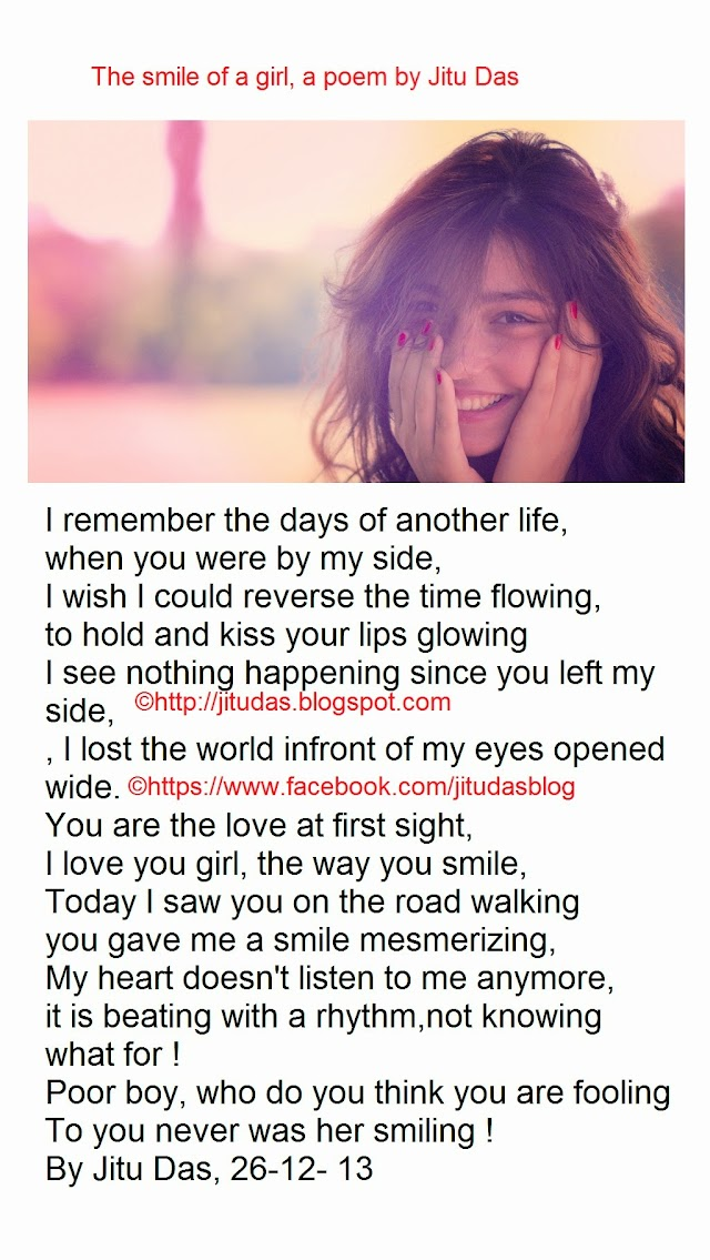 The smile of a girl,a poem by Jitu Das Poems