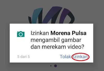 Izinkan Morena Pulsa mengakses kontak?