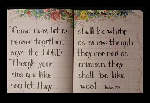Scripture Writing, Isaiah 1:18