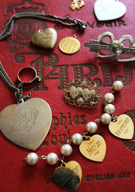 Vintage Valentine Heart Jewelry from Itsy Bits And Pieces Blog.