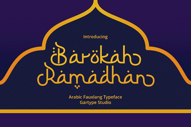 Font batokah ramadhan ttf