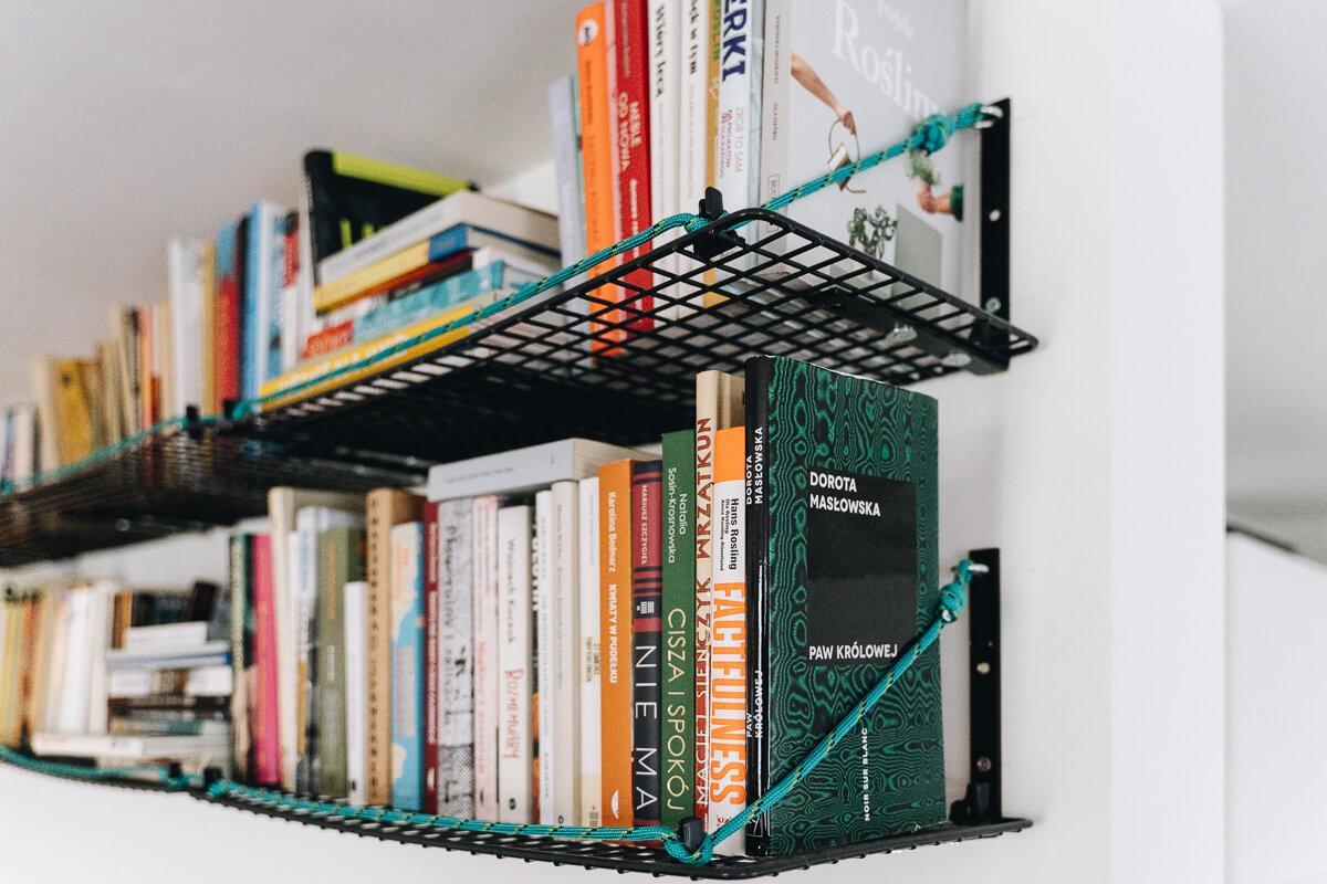 Półki na książki czarne metalowe