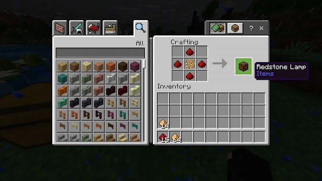 How to Make a Redstone Lamp in Minecraft