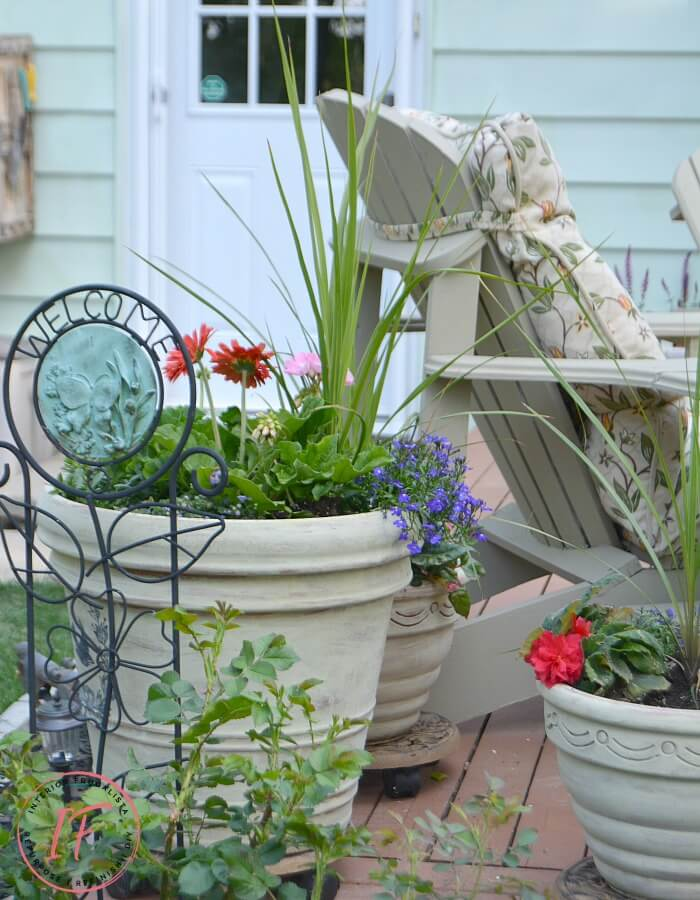 Chalk Painted Terracotta Outdoor Pots
