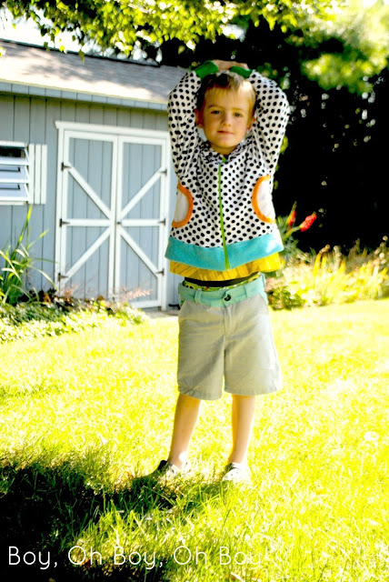 Zippy Jacket PDF Sewing Pattern by Blank Slate Patterns sewn by Boy, Oh Boy, Oh Boy Crafts