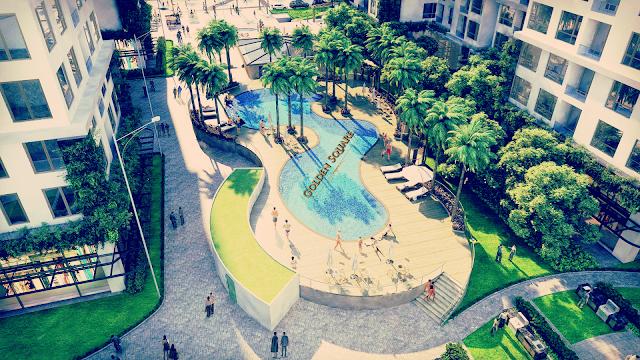 Không gian xanh dự án Golden Square Đà Nẵng