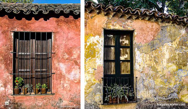 casas de colonos do Século 18,  Colonia del Sacramento, Uruguai