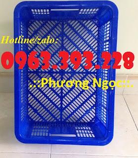 Sọt nhựa HS018, sọt đựng trái cây, sóng nhựa rỗng chứa đồ Hs018-mat-truoc