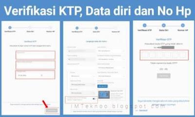 Cara Daftar Prakerja Gelombang 12, Verifikasi KTP dan melengkapi data diri