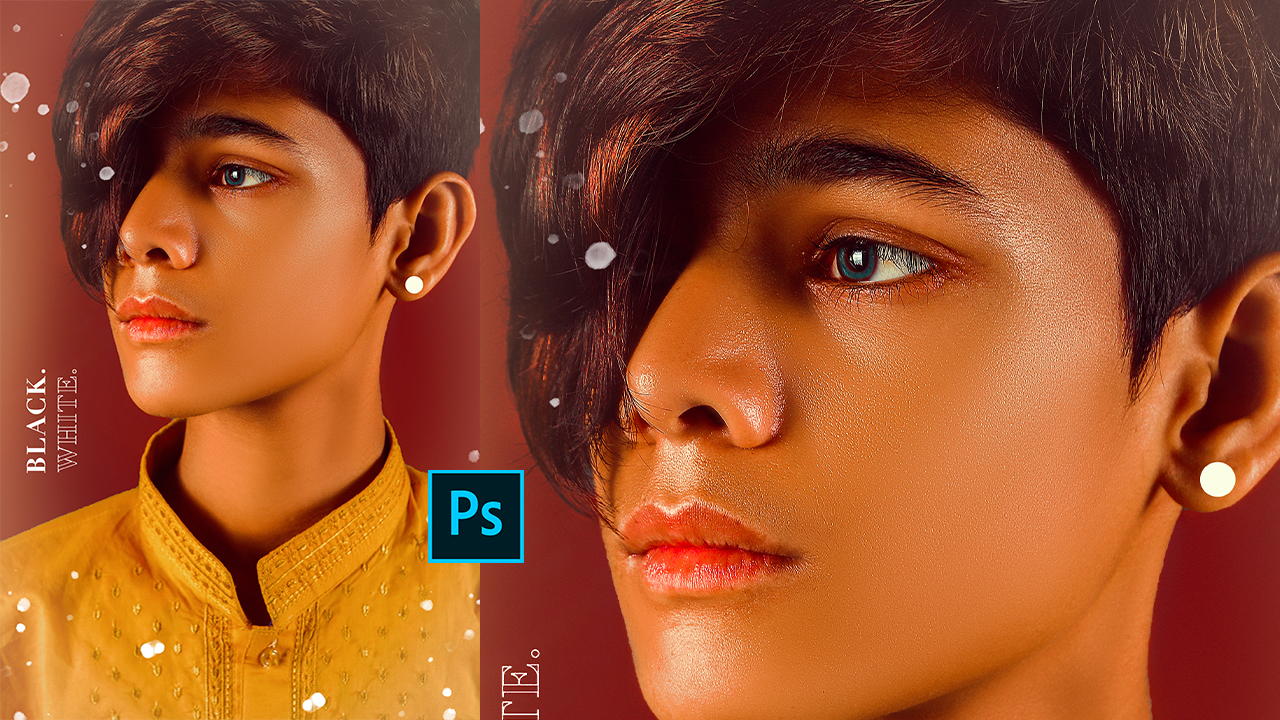 High-End Dark Skin Retouching Photoshop Tutorial | Professional Gold Skin Effect In Photoshop CC