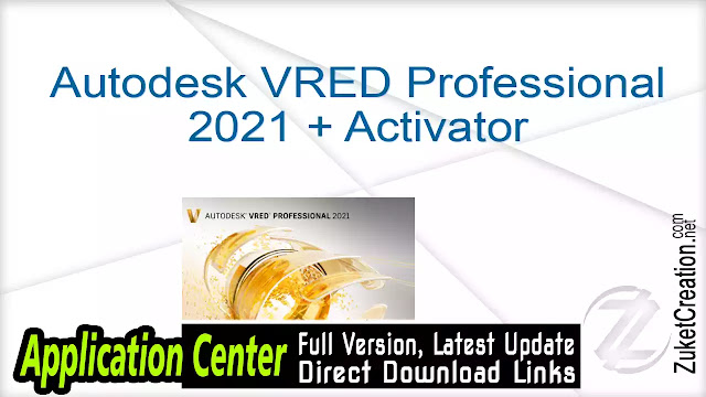 Autodesk VRED Professional 2021 + Activator