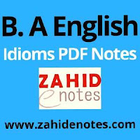 Download Important idioms notes for B.A