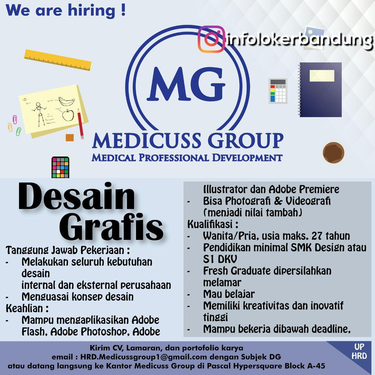 Lowongan Kerja Medicuss Group Desember 2017