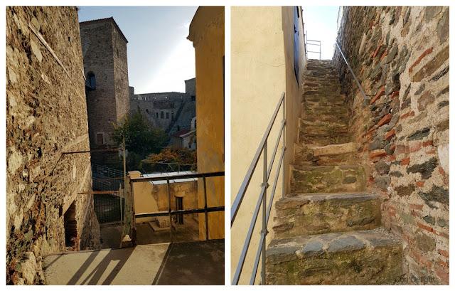 מדרגות קשות לעלייה במצודת הפטפירגיו