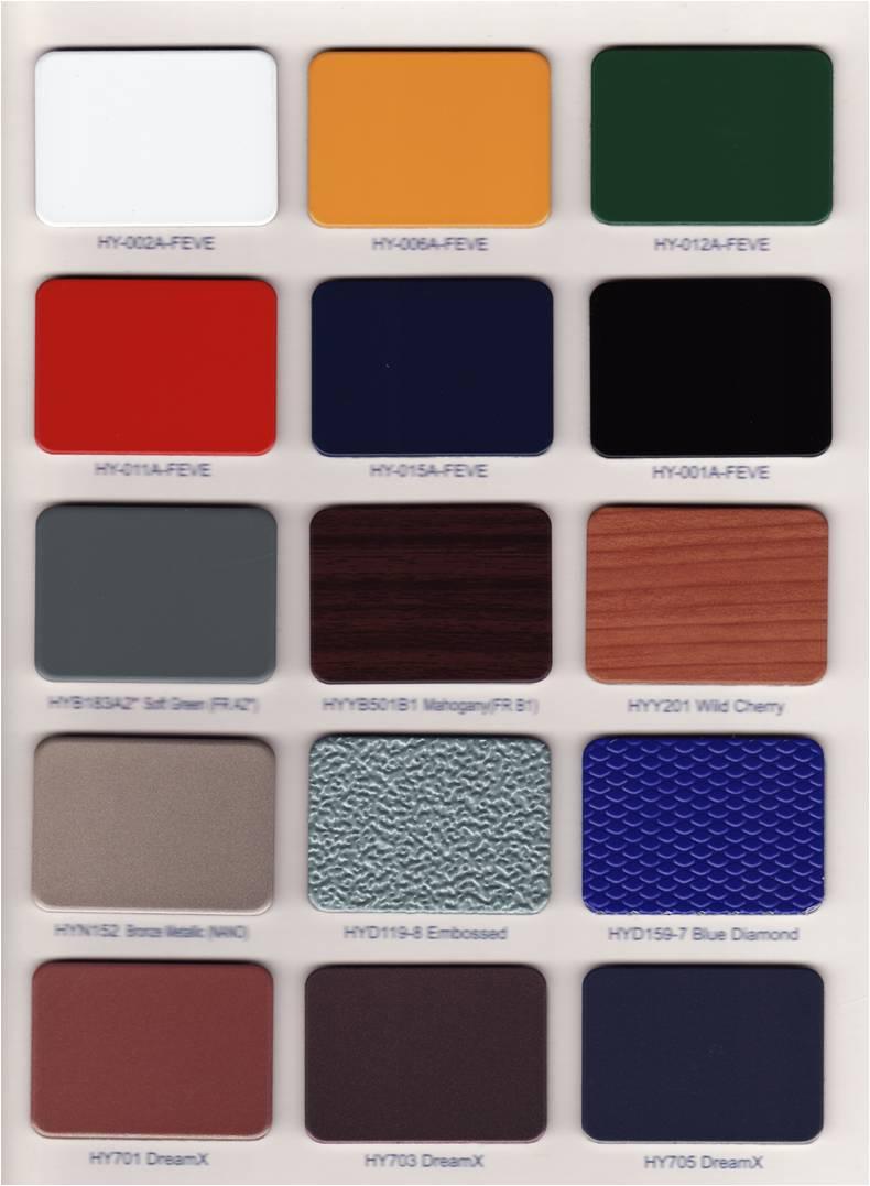 Alucobest Aluminum Composite Panel New Color Chart