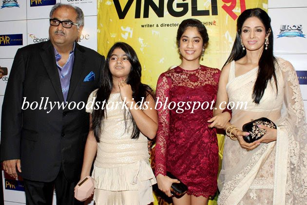 Bollywood Star Kids: Boney Kapoor & Sridevi With Daughters