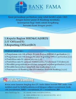 Lowongan Kerja PT BANK FAMA INTERNATIONAL Bandung - Agustus 2020