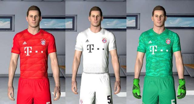 new concept bd4d6 f8158 PES 2017 Bayern Munich 2019-20 Kits