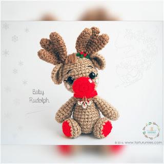 patron amigurumi Reno baby Rudolph tarturumies