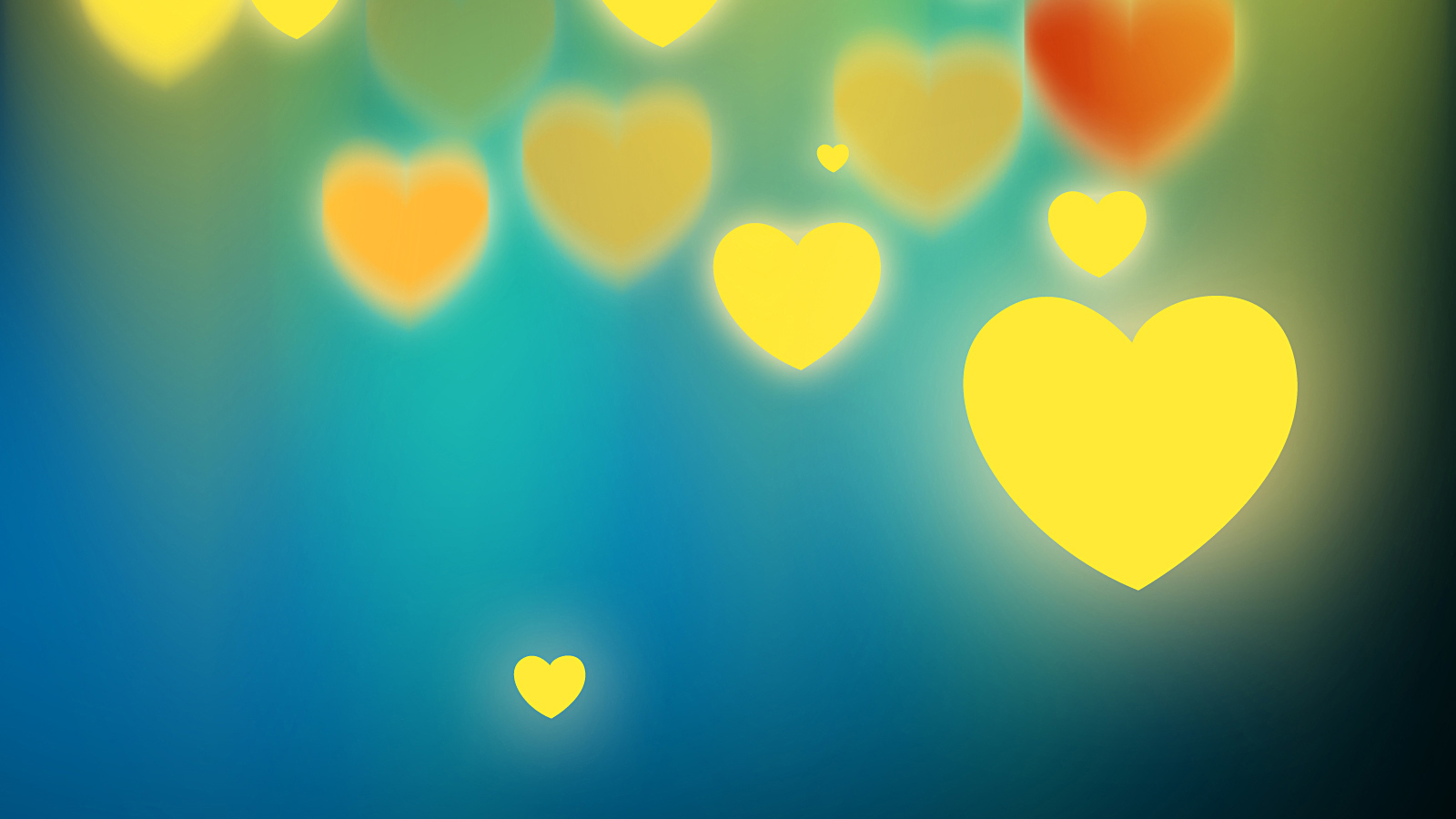Free Glowing Hearts Background