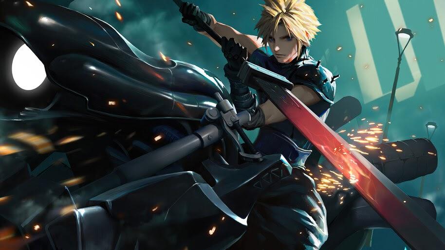 Cloud Strife, Sword, FF7 Remake, 4K, #7.2070