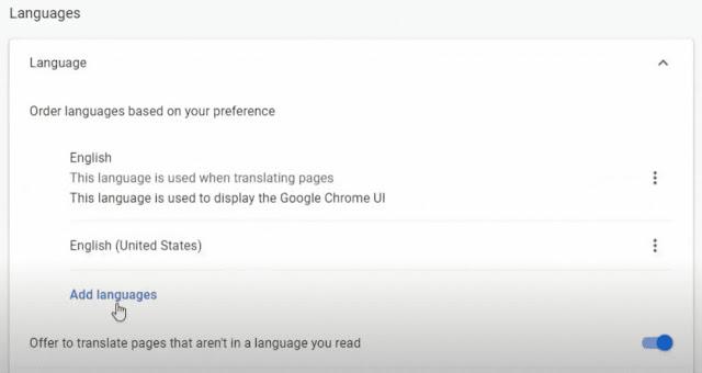 تعريب متصفح جوجل كروم