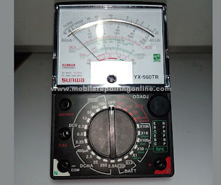 analog multimeter reading