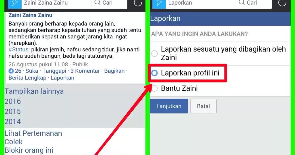 cara melaporkan akun facebook teknoid