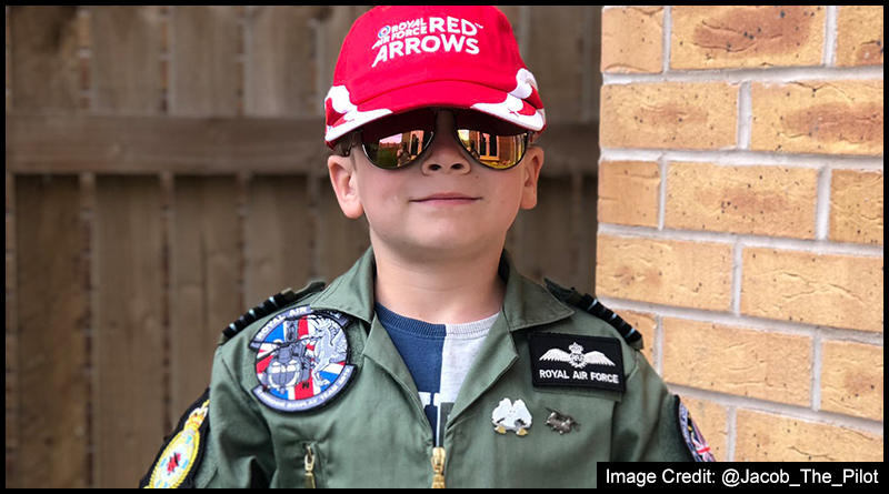Five-year-old @Jacob_The_Pilot who is to climb Pen-Y-Ghent in aid of the Royal Air Force Benevolent Fund