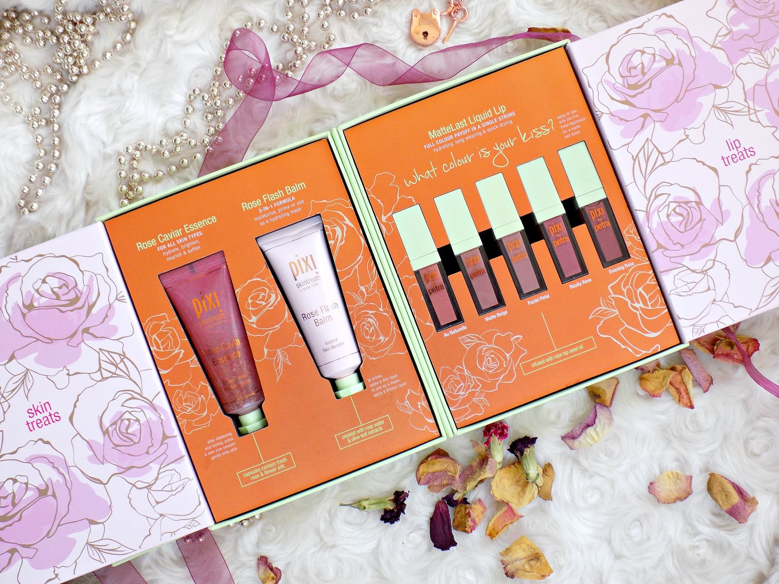 Pixi PR package, rose skin and lip treats
