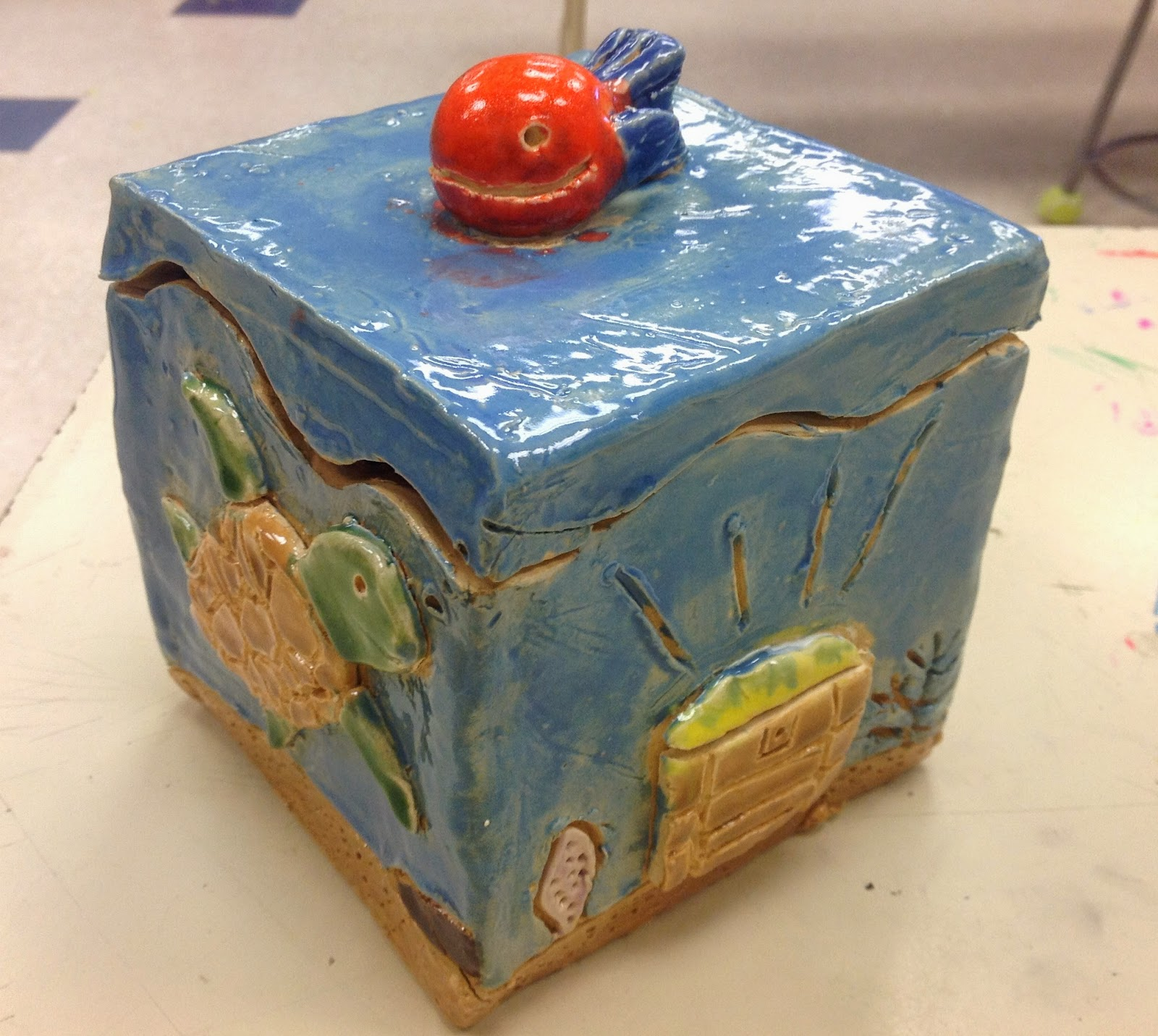 Miss Arty Pants Themed Clay Boxes
