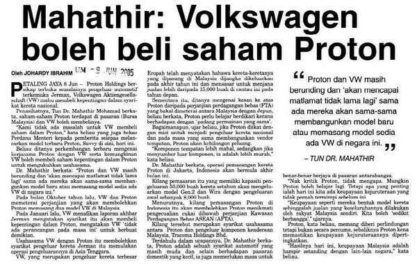 Mahathir Bapak Jual Anak Yang Sebenar