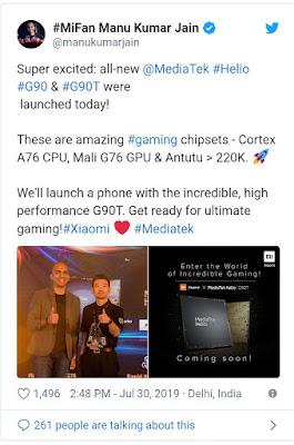 MediaTek Helio G90T with Xiaomi smartphone
