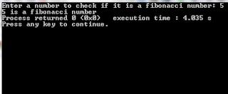 program input output source code find Fibonacci number c++