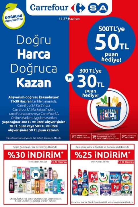 carrefoursa marketler zinciri katalog broşür afiş fırsatlar 14-27 haziran arası kampanya online sipariş 2021
