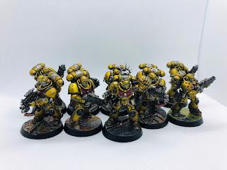 Imperial Fists Space Marine Intercessor Squad