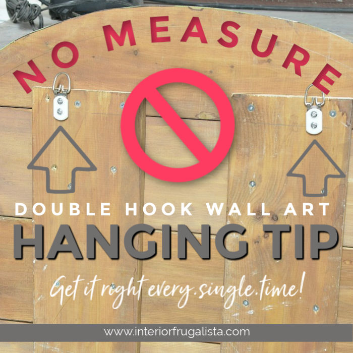 No-Measure Tip For Hanging Art With Two Hooks