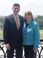 Speaker of the House Pro-life Rep. Paul Ryan (R-Wis.) and National Right to Life President Carol Tobias