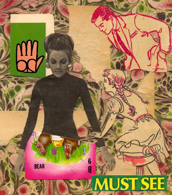 Yoga Collage from my Twisted Images series
