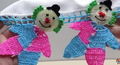 Como tejer puntillas de payasitos para bebes